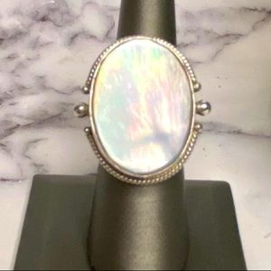 Mother of Pearl Sterling Statement Ring